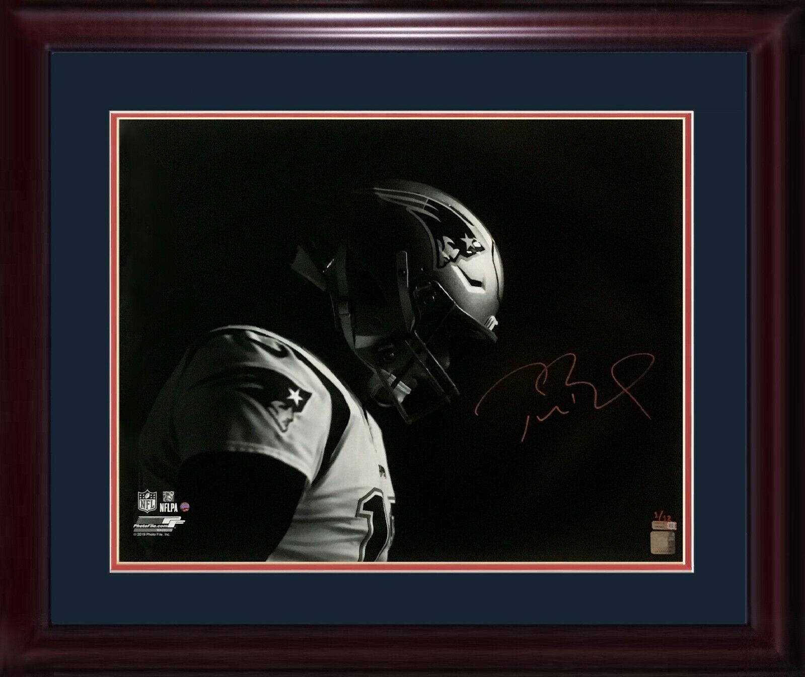 Tom Brady SB 51 MVP signed 20×24 photo framed mint auto Steiner Tristar COA 1/12