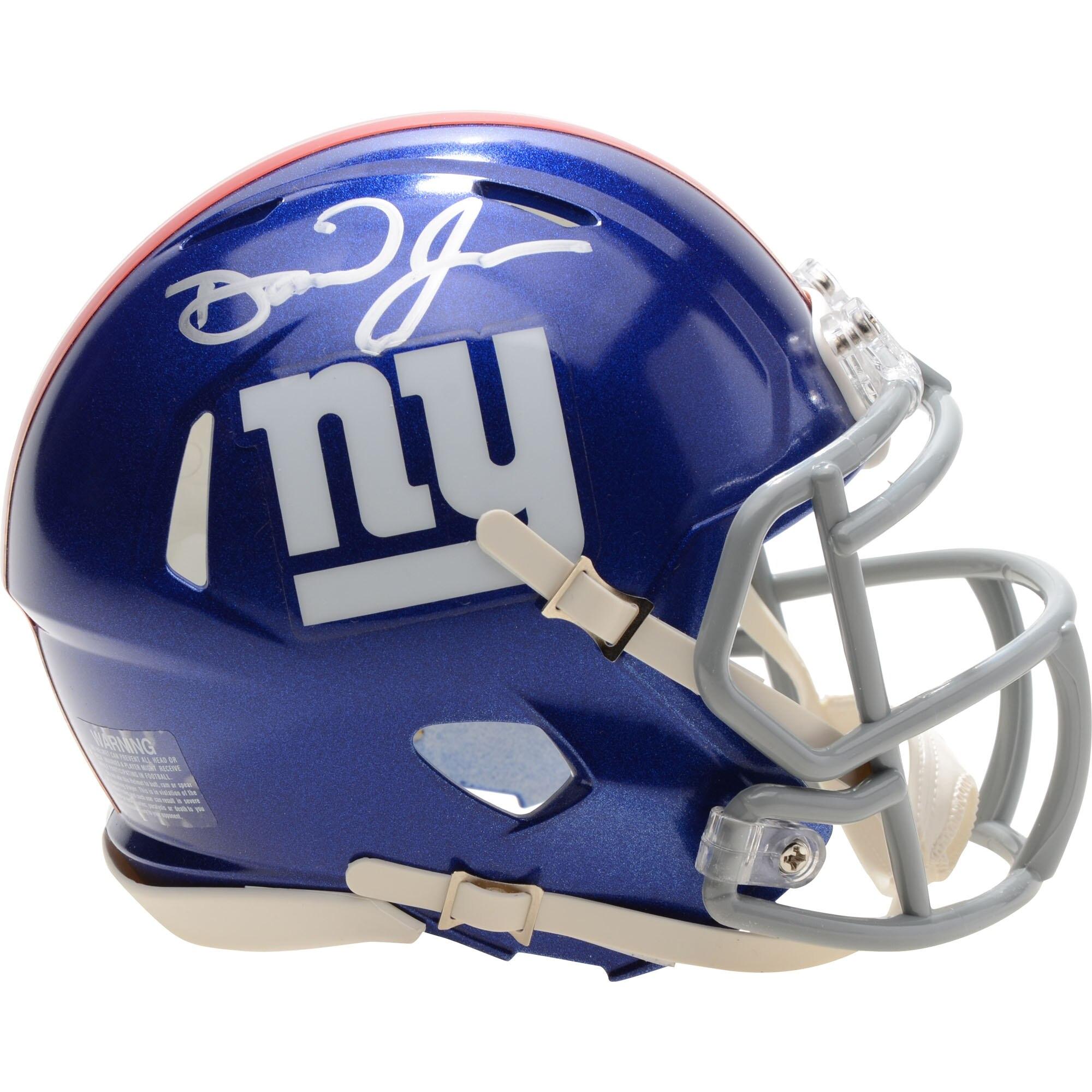 Daniel Jones signed Giants Speed Mini Helmet Rookie Autograph Fanatics COA