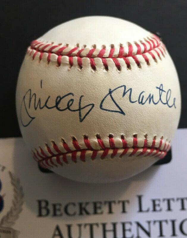 Mickey Mantle Signed Official A.L Baseball BAS Beckett COA MINT 10 ? Auto Beauty
