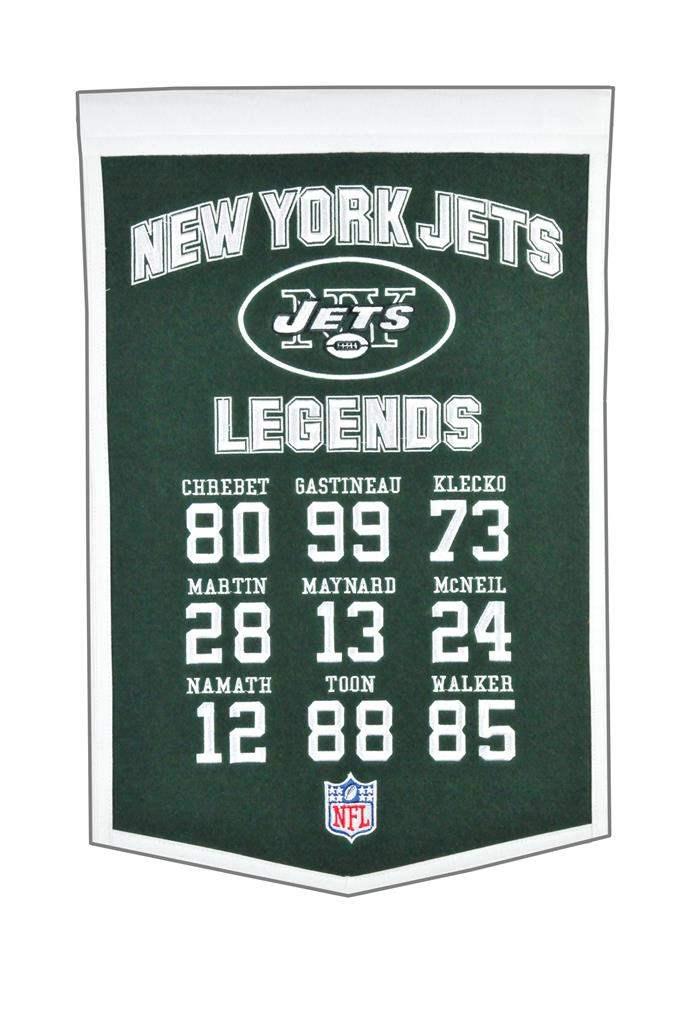 New York Jets Legends 14×22 Retired Numbers Felt Banner NFL Joe Namath Klecko