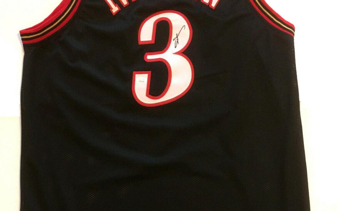 Allen Iverson signed 76ers #3 Basketball jersey autograph HOF JSA COA