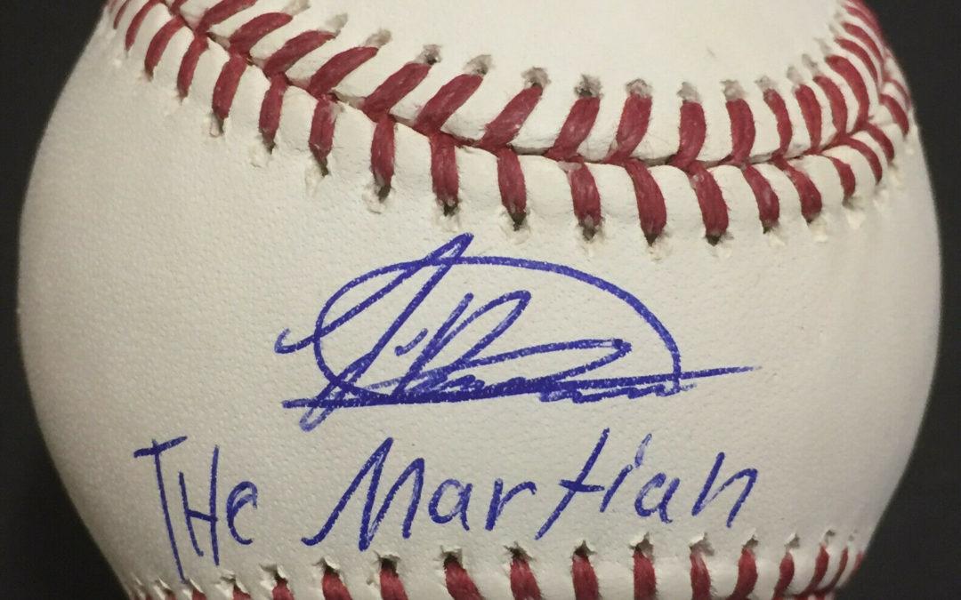 Jasson Dominguez signed MLB Baseball INS The Martian Rookie Auto Fanatics COA
