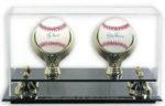 Double Baseball Display Case