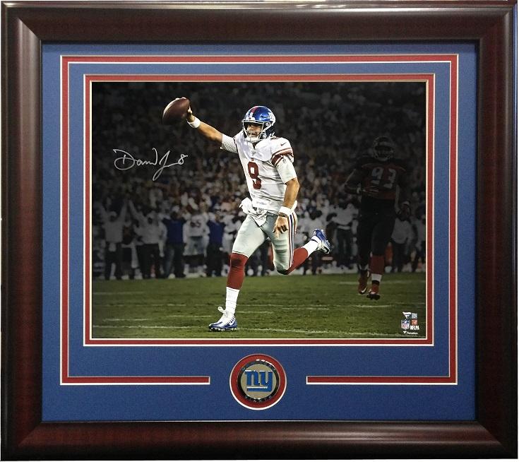 Daniel Jones signed 16×20 photo framed Giants Coin Rookie Autograph Fanatics COA