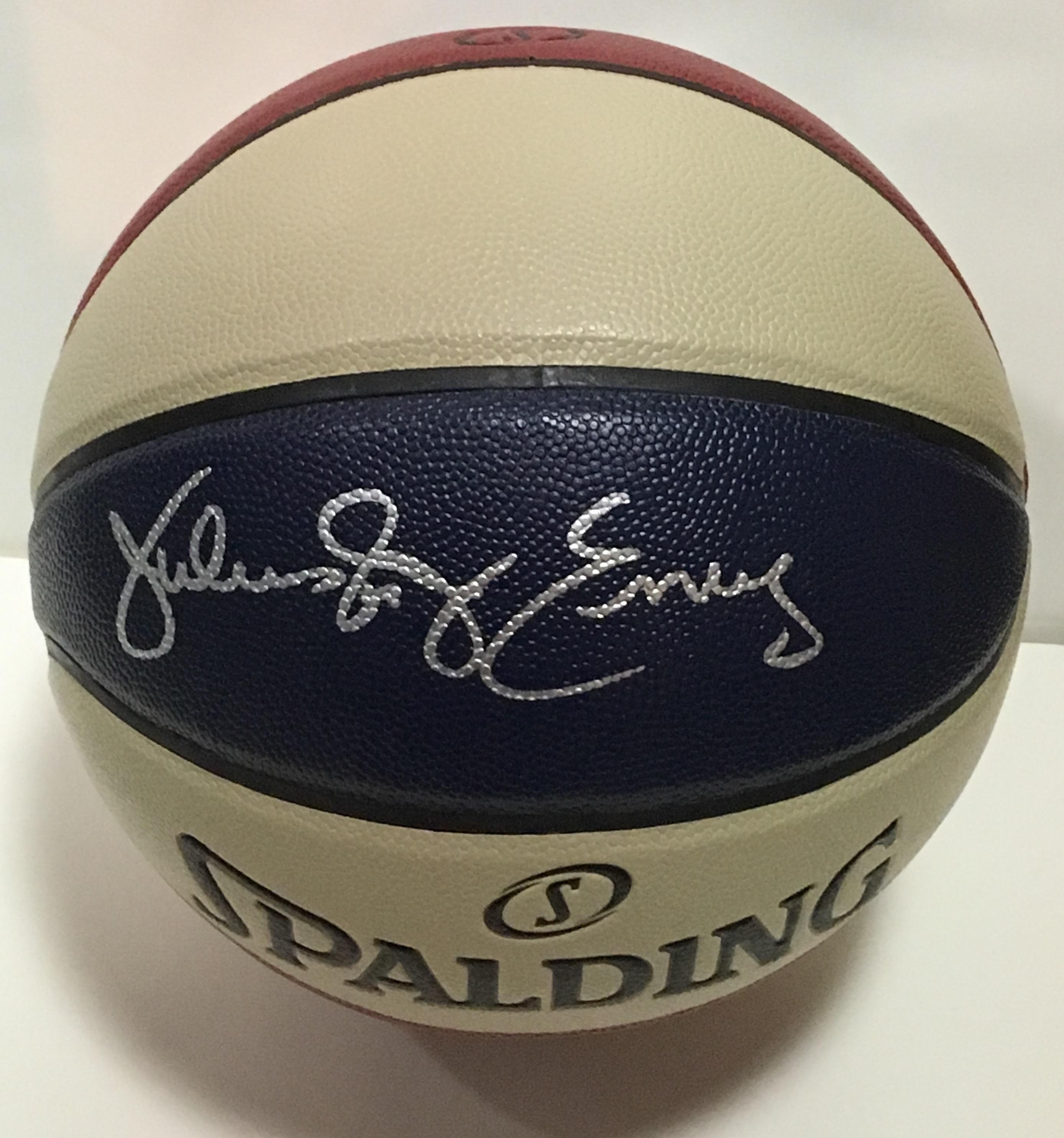 Julius Erving signed Spalding ABA Basketball INS Dr J mint Autograph HOF JSA COA