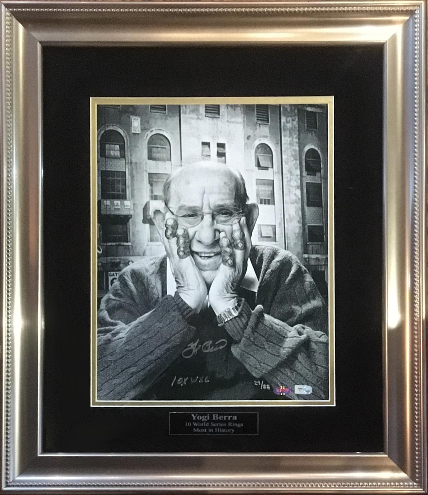 Yogi Berra signed 11×14 photo INS 10x WSC Mint Auto MLB Holo Steiner COA /88