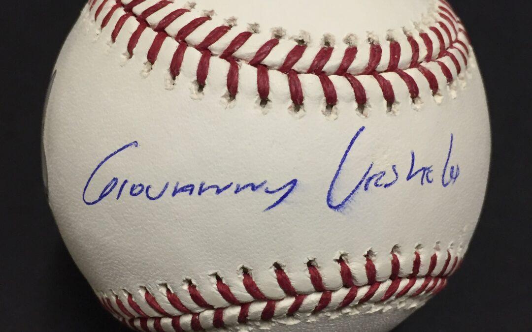 Giovanny Gio Urshela Yankees signed official MLB baseball autograph Fanatics COA