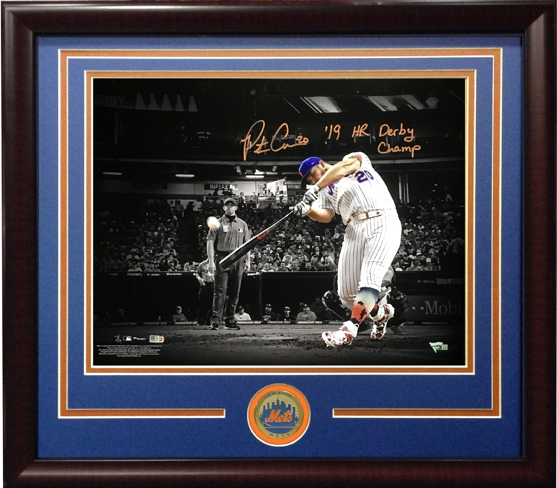Pete Alonso signed 16×20 photo INS 2019 HR Derby Champ framed coin auto Fanatics