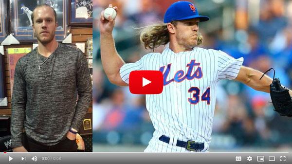Noah Syndergaard, NY Mets, Visits Cardboard Memories