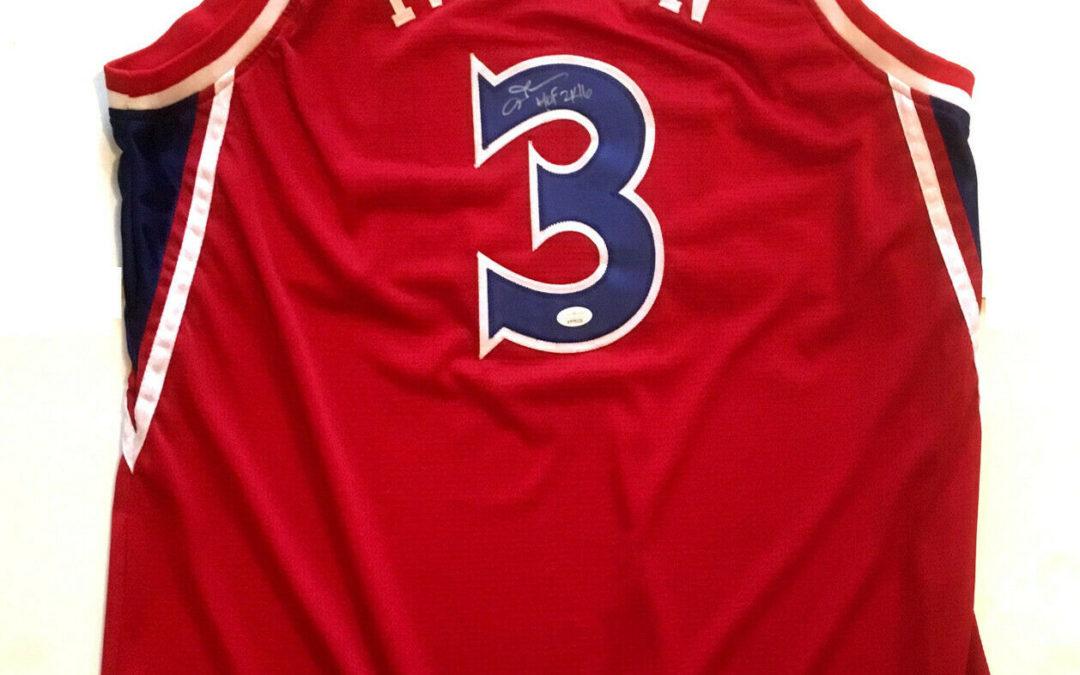 Allen Iverson signed 76ers #3 Basketball jersey ins HOF 2016 autograph JSA COA