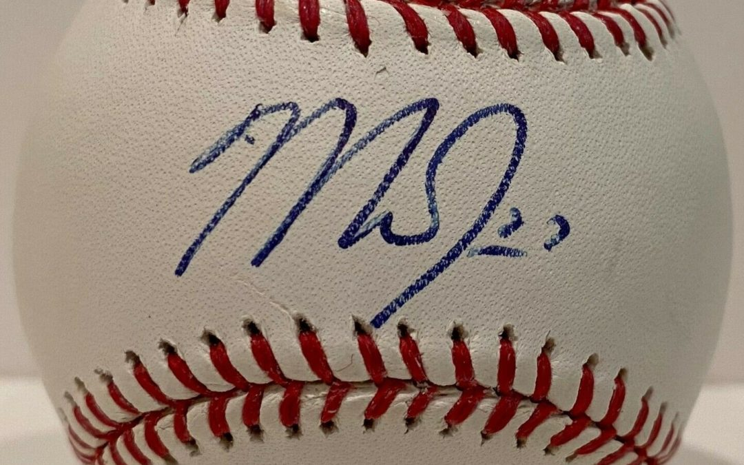 Mike Trout signed official MLB Baseball Autograph MLB Holo COA