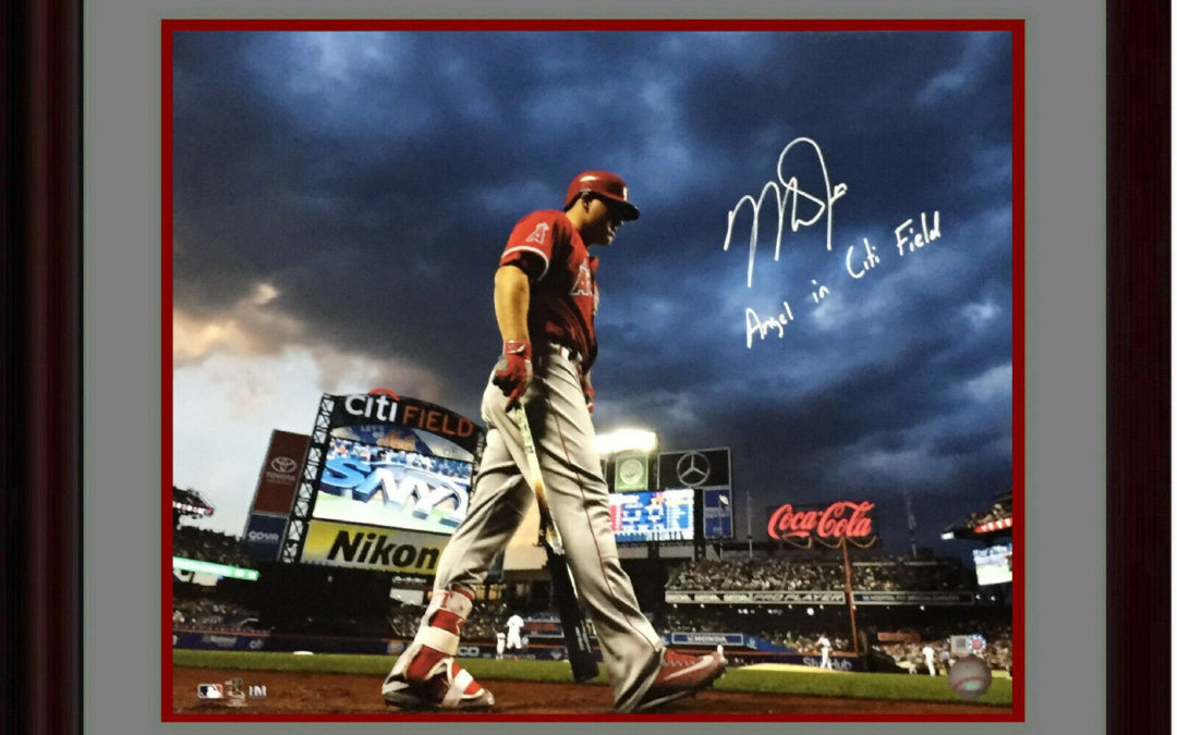 Mike Trout signed 16×20 photo INS Angel in Citi Field framed autograph MLB Holo