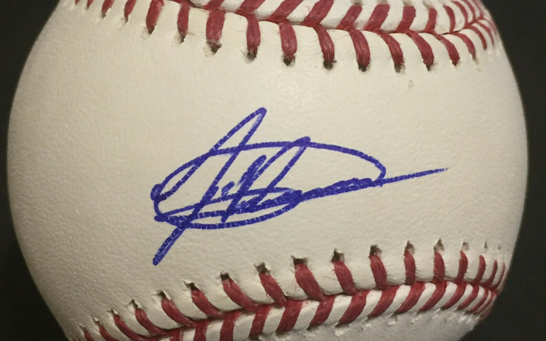 Jasson Dominguez #1 Prospect signed MLB Baseball Rookie Autograph Fanatics COA