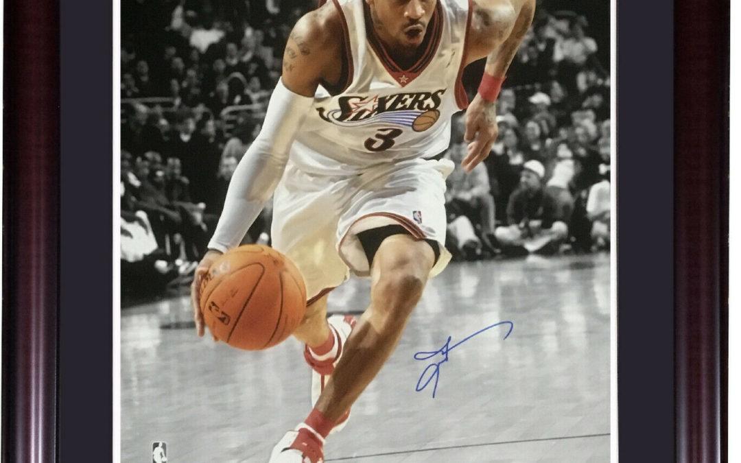 Allen Iverson 76ers signed 16×20 photo framed autograph HOF JSA COA