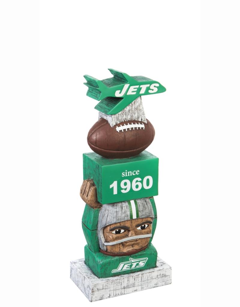 New York Jets since 1960 NFL Vintage Tiki Totem Lawn Garden Statue all weather