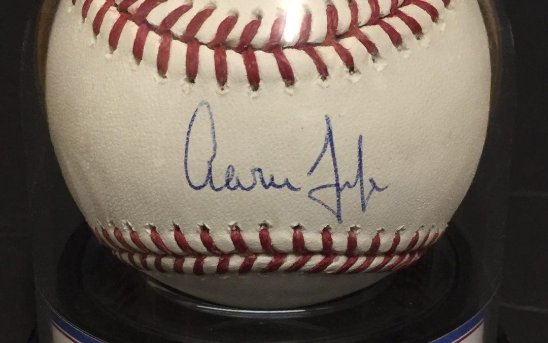 Aaron Judge Signed Official MLB Baseball Fanatics MLB Holo COA Graded Mint 9 Autograph