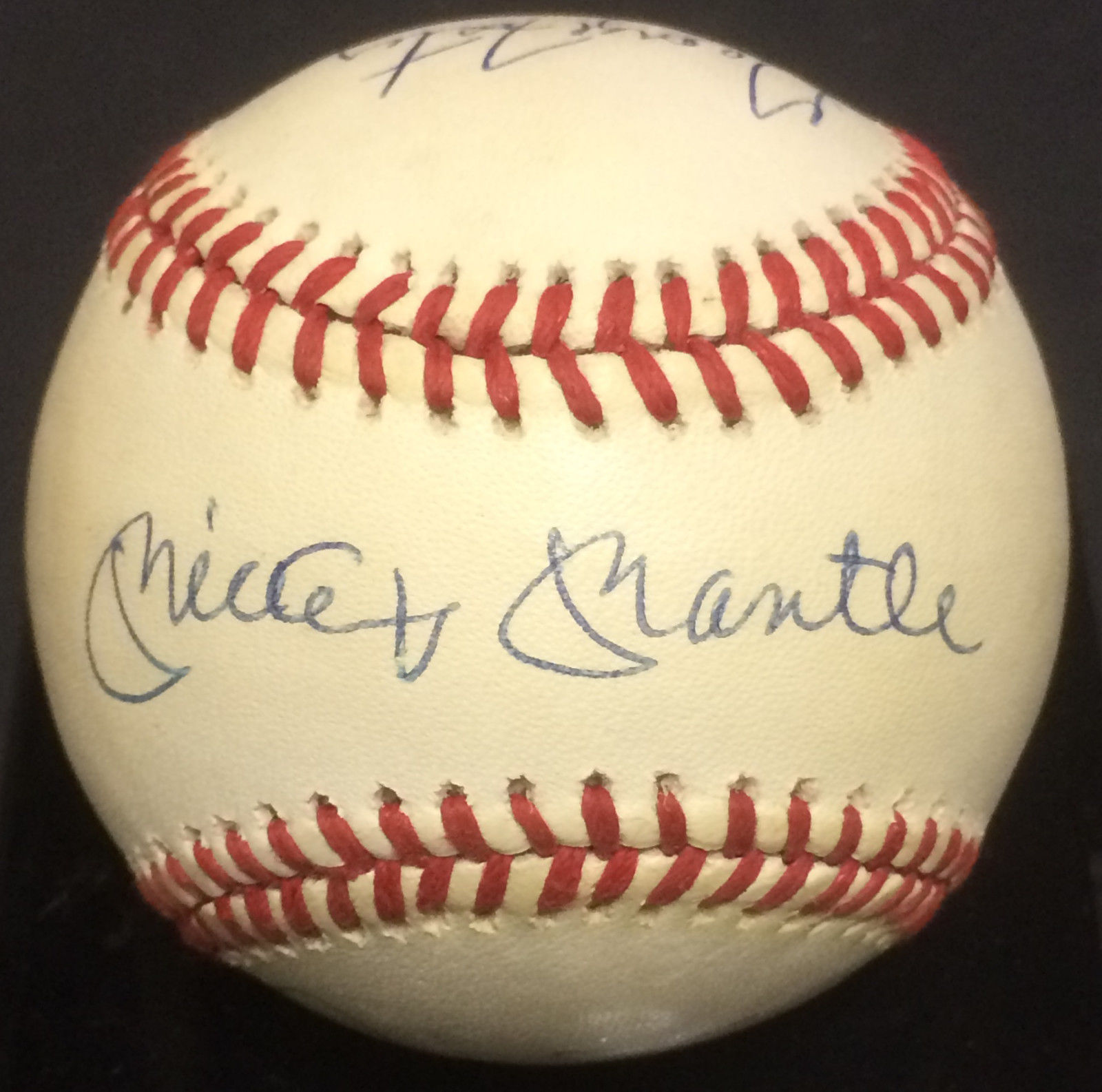 50 Hr season signed NL Baseball 6 auto Mickey Mantle Willie Mays Kiner JSA LOA