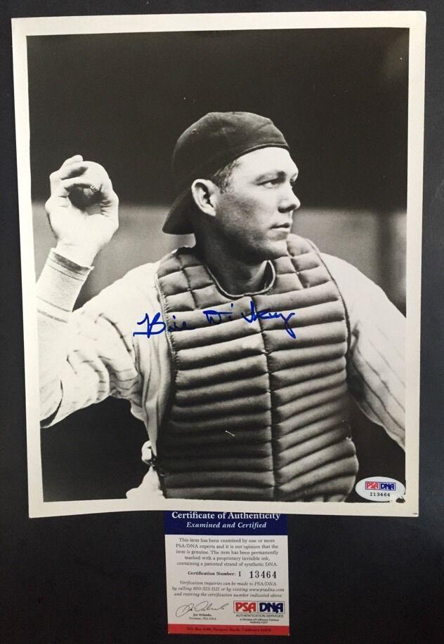 Bill Dickey Signed Vintage 8X10 Photo Hof # 8 Catcher Yankees Psa Dna Coa Auto