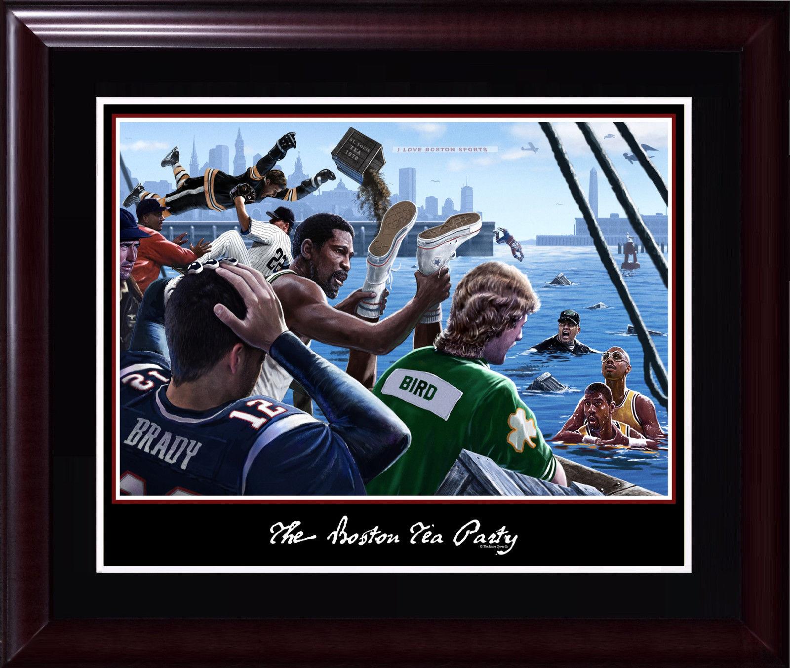 Boston Tea Party 16×20 photo framed Red Sox Celtics Patriots Tom Brady