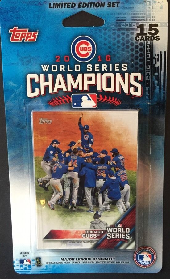 Chicago Cubs 2016 Topps WORLD SERIES Limited Edition 15 Card Team Set IN STOCK