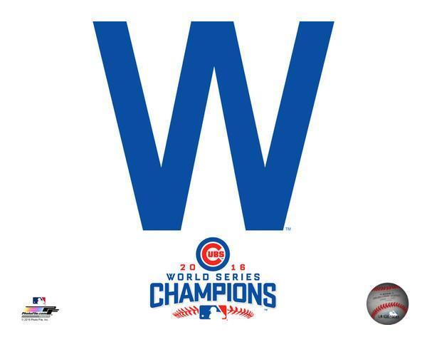 Chicago Cubs 2016 World Series Champions 8×10 W Win photo Kris Bryant Rizzo