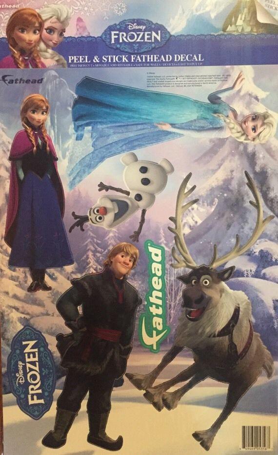 Fathead Disney Frozen Anna Elsa Olaf & Sven Set Teammate Wall Decor Kids Room