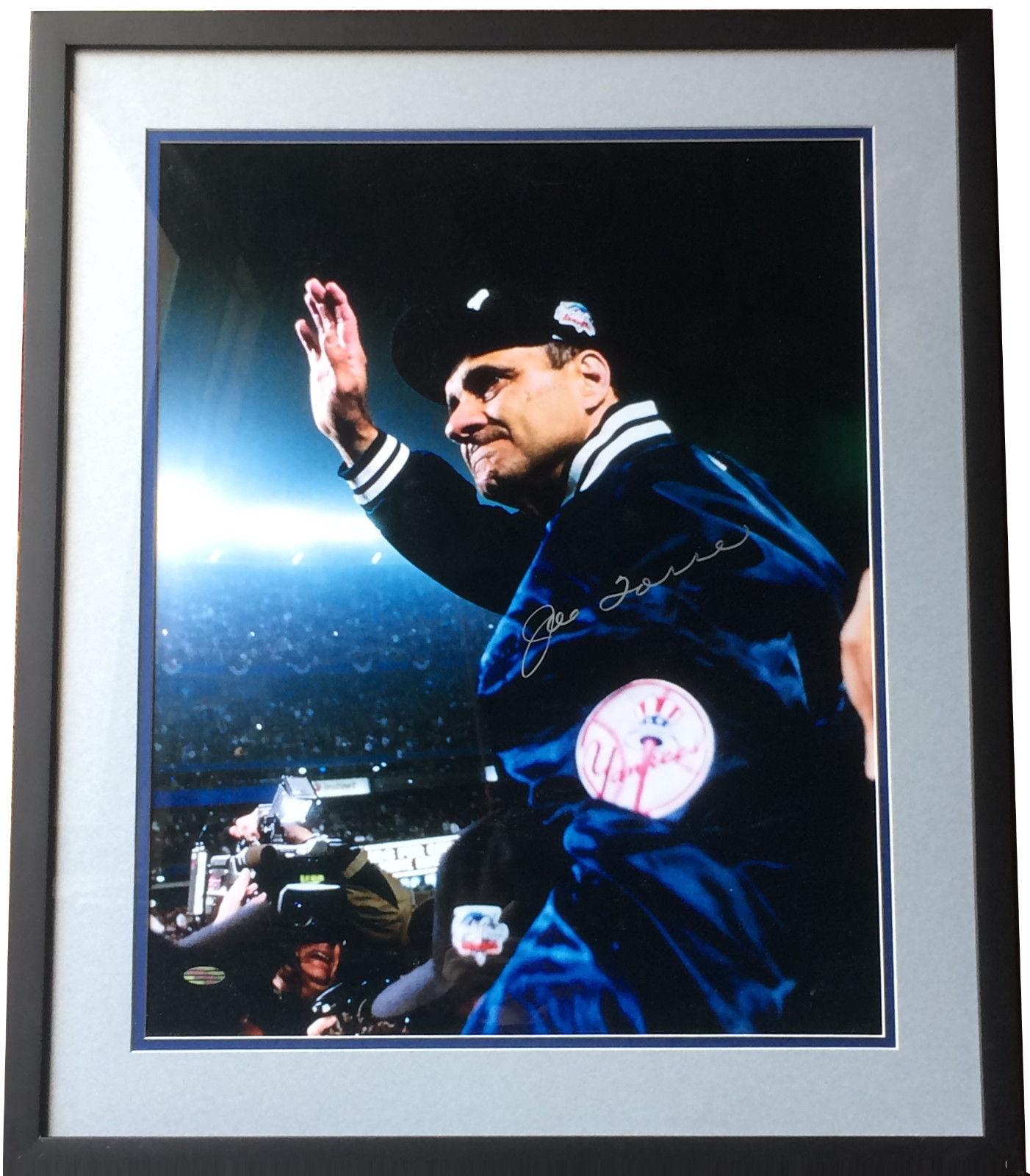 Joe Torre Yankees signed 16×20 2000 world series  photo framed HOF Steiner COA