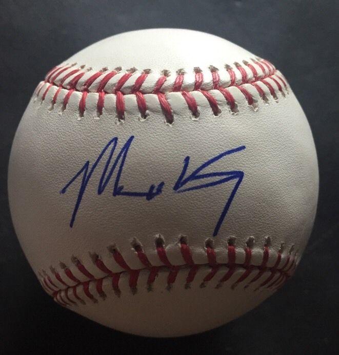 Matt Kemp Signed Official Mlb Holo Coa Baseball Mint Auto Braves
