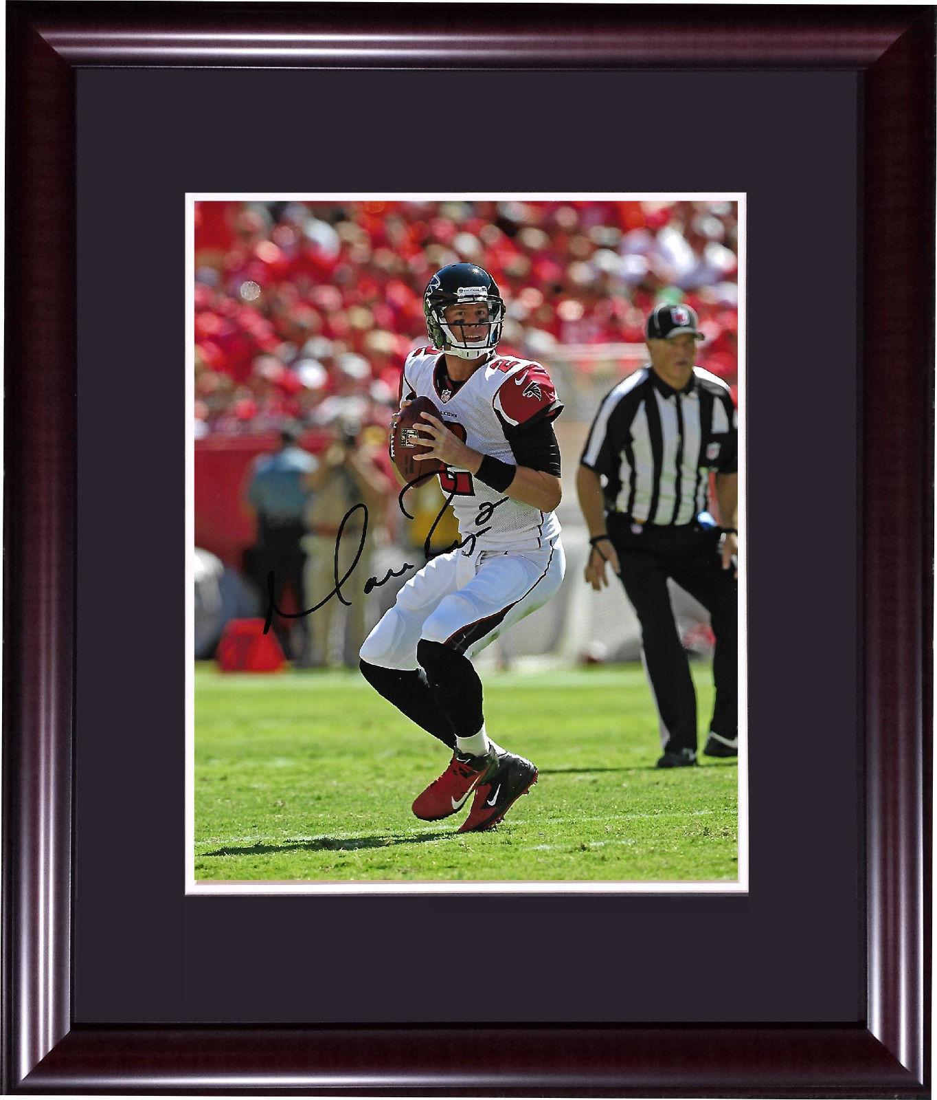 Matt Ryan signed 8×10 photo framed autograph Falcons Team COA NFL MVP Super Bowl