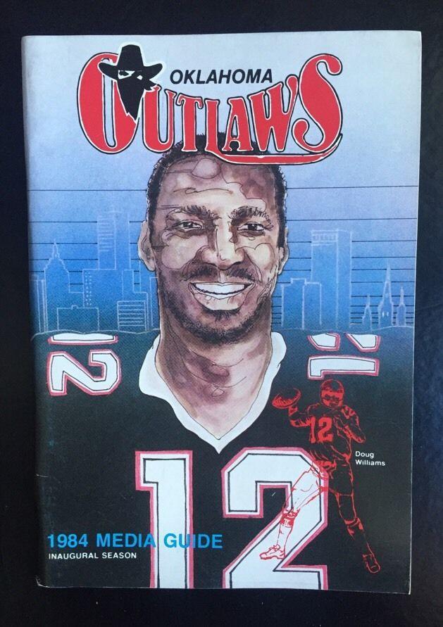 Oklahoma Outlaws RARE 1984 USFL Media Guide Schedule Doug Williams Redskins Nm