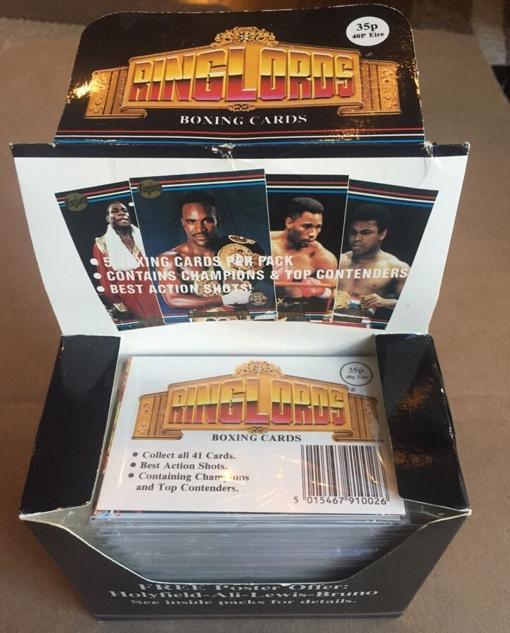 Ringlords Boxing Cards 40 Packs Sealed Box Muhammad Ali Holyfield Duran Rare Mt