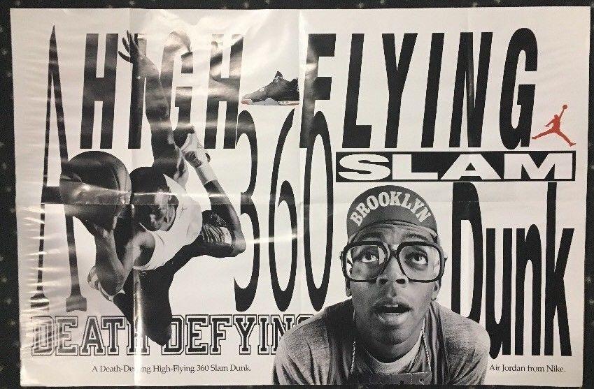 HIGH FLYING Death Defying Original NIKE Poster Michael Jordan Spike Lee 24×36
