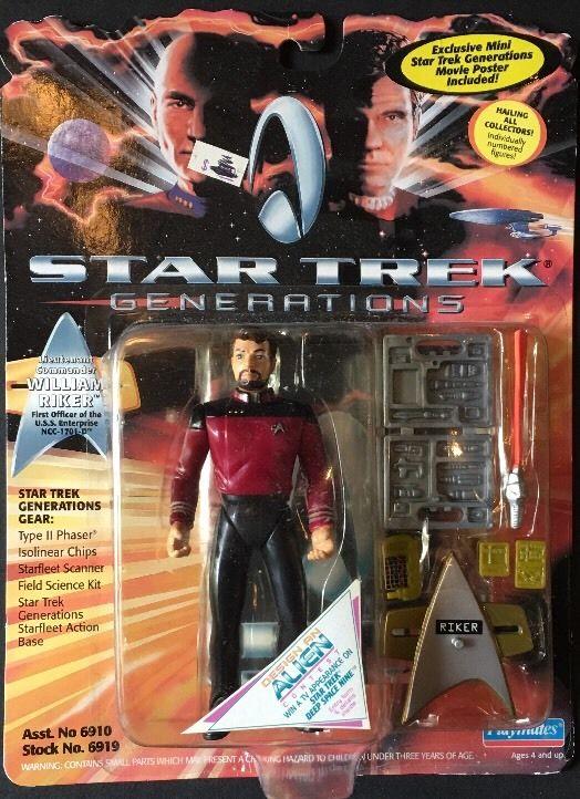 Star Trek Generations William Riker Action Figure NIB Playmates 1994 sealed