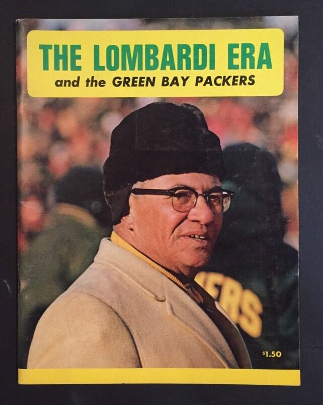 The Vince Lombardi Era Green Bay Packers Program Rare protoype 1959 -1967
