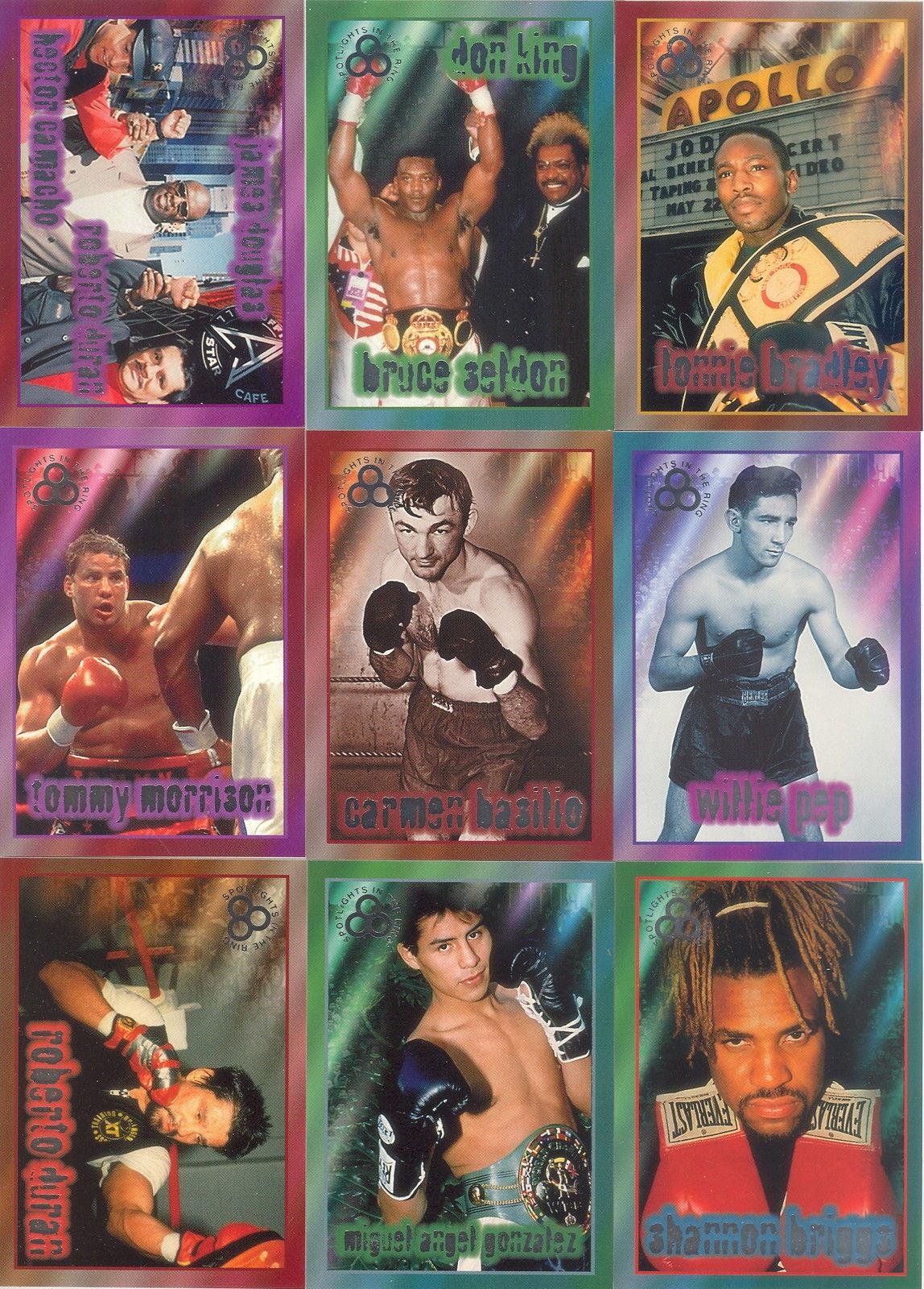 1996 Ringside Boxing SILVER SPOTLIGHTS in the ring card sheet Set sealed Duran