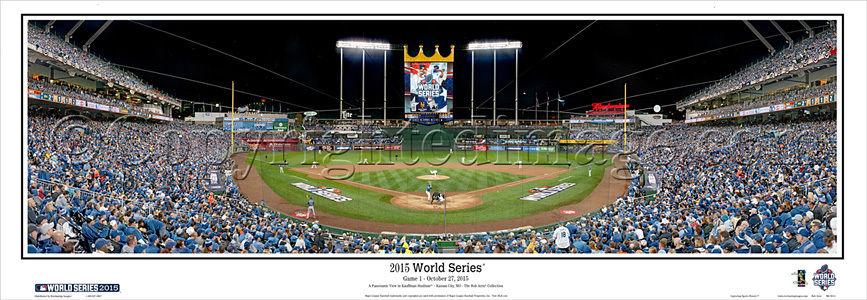 2015 Kansas City Royals World Series game 1 9×27 panoramic photo unframed