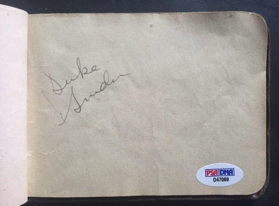 Duke Snider Rookie Auto 1947 Super Rare Vintage Signed Brooklyn Dodgers Psa Coa