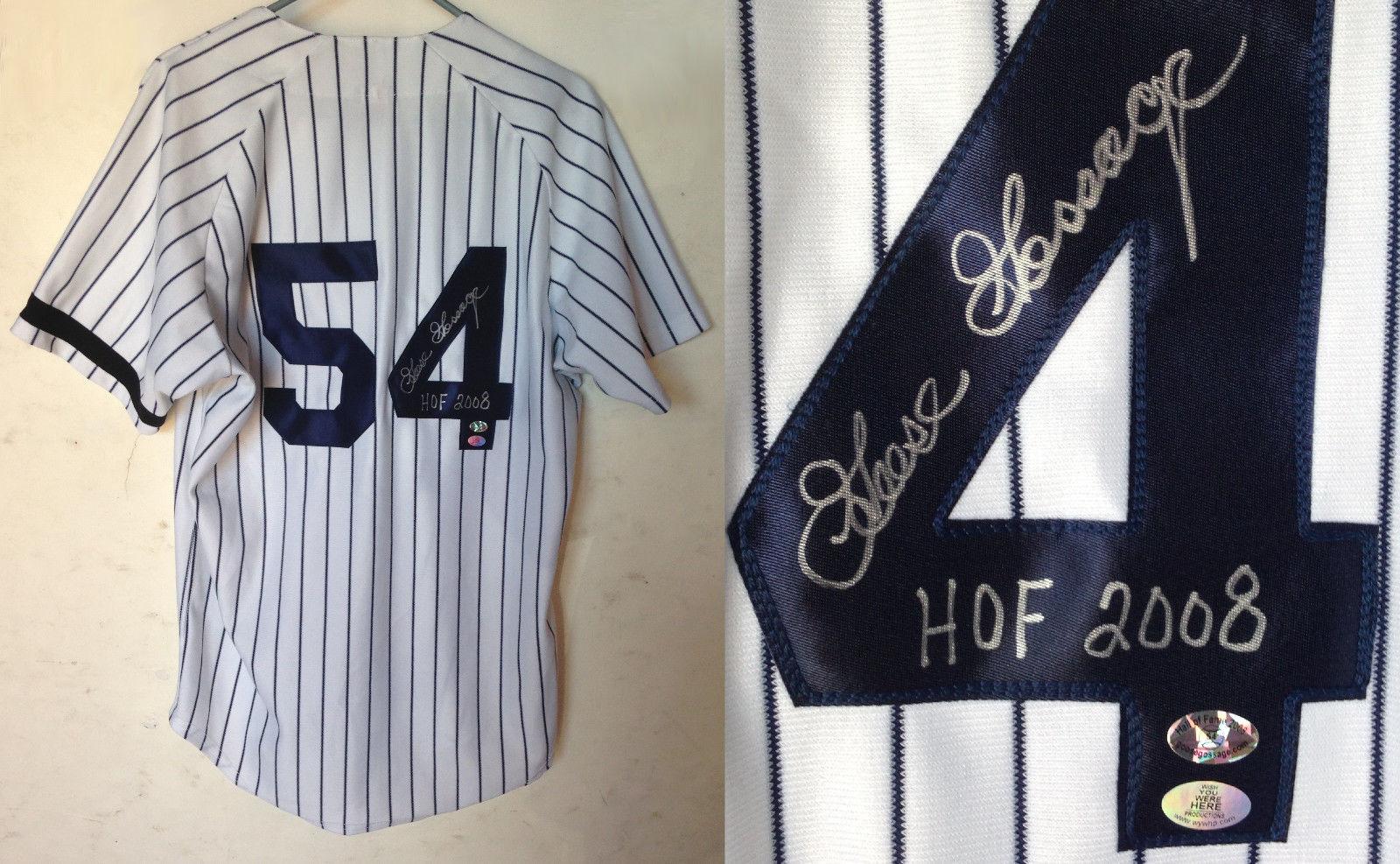 Goose Gossage Signed NY Yankees #54 baseball jersey ins HOF 2008 agent holo COA