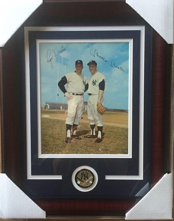 Mickey Mantle Maris 1964 Requena Yankees  original 8×10 Framed Photo Mt W Coin