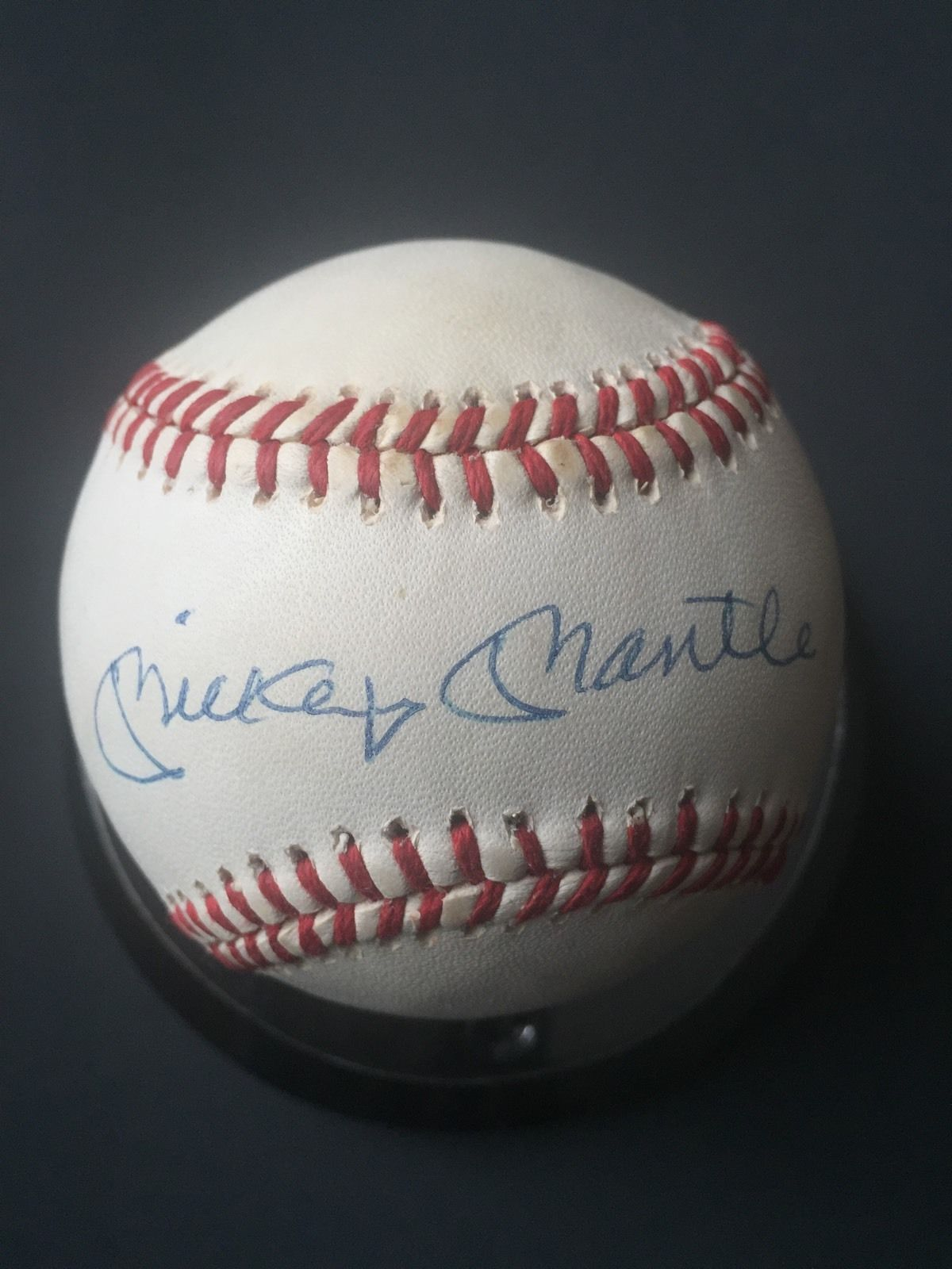 Mickey Mantle Signed Official Al Baseball Mint Autograph Cbm Letter Expert Coa