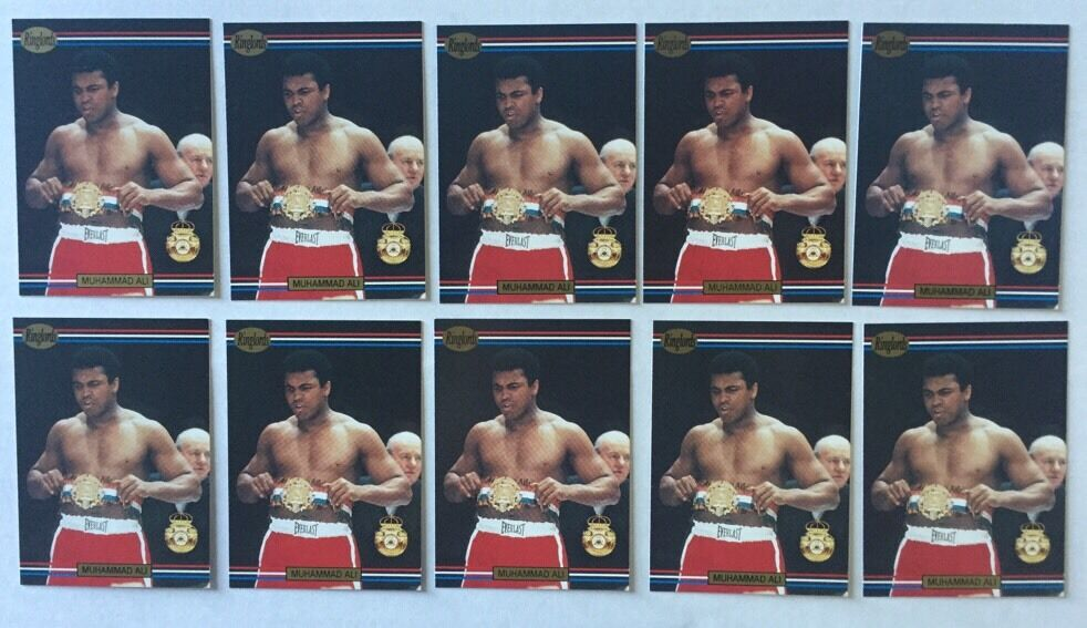 Muhammad Ali 1991 Ringlords Boxing Card # 40 Mint 10 Cards Lot Cassius Clay