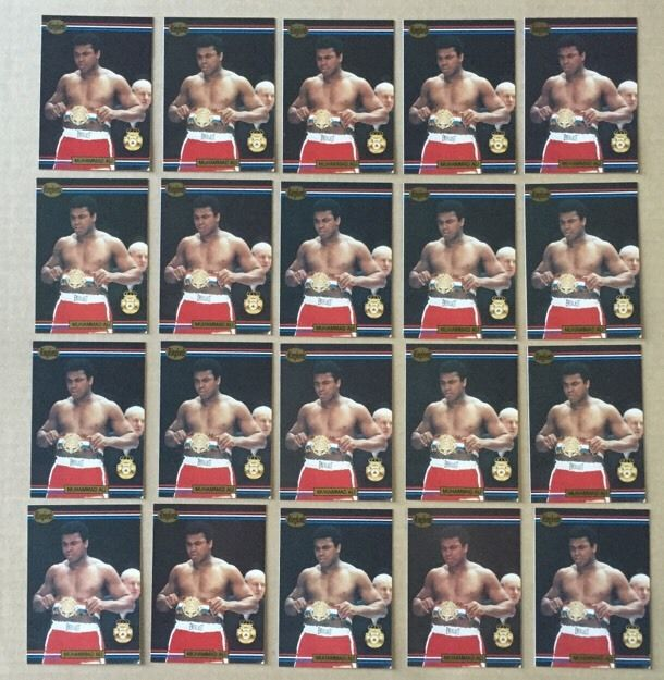 Muhammad Ali 1991 Ringlords Boxing Card #40 Mint 20 Cards Lot Cassius Clay boxer