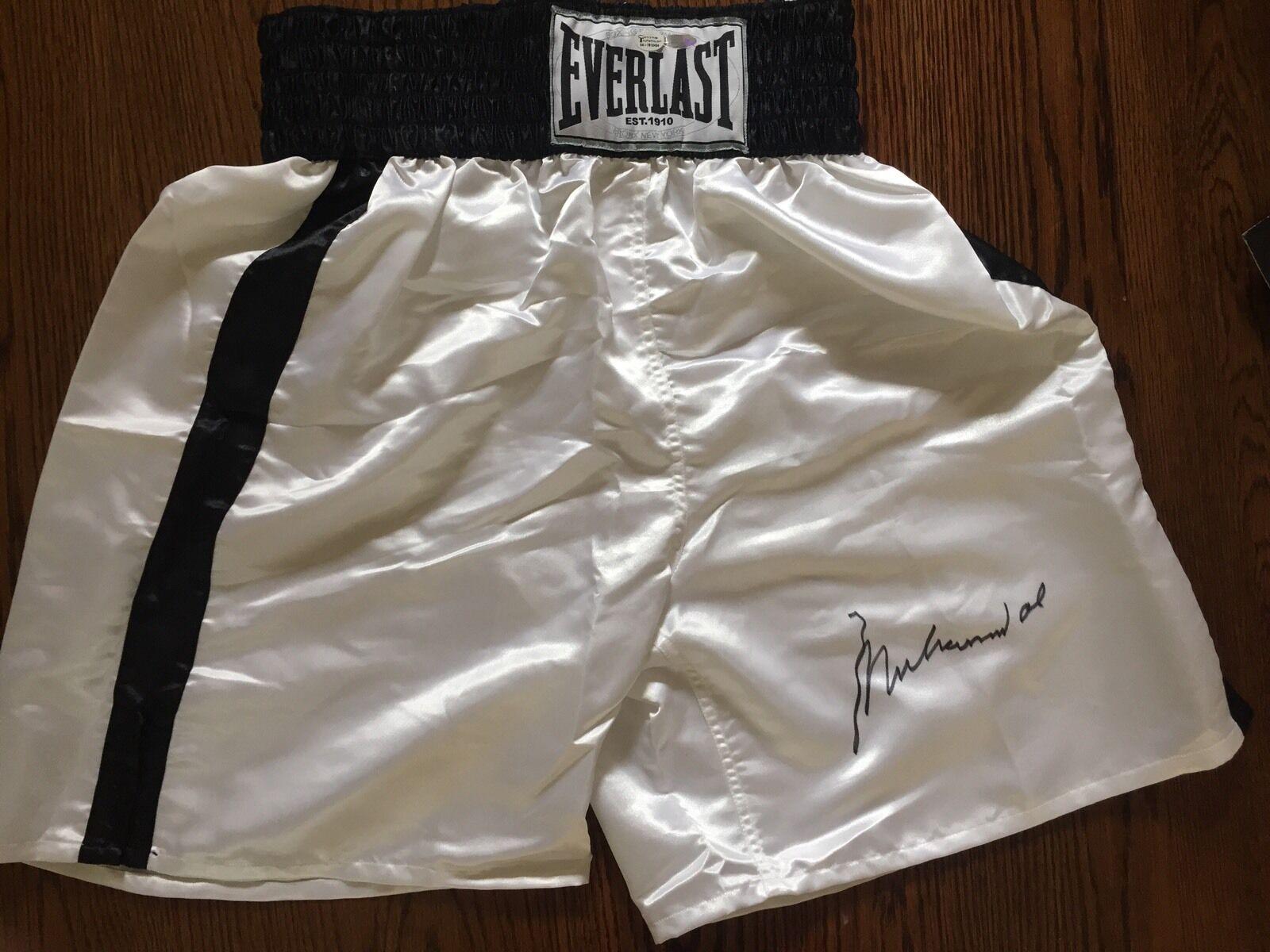 Muhammad Ali Everlast Boxing Trunks shorts mint Autograph Steiner Online Coa