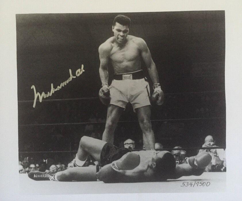 Muhammad Ali Signed Liston Fossil Watch Frame Box Set 9X9 Photo Le Coa Mint Auto