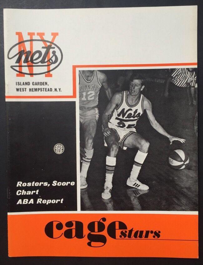 Ny Nets 1970 / 71 Aba Program Island Garden Miami Floridians MT Mickey Mantle