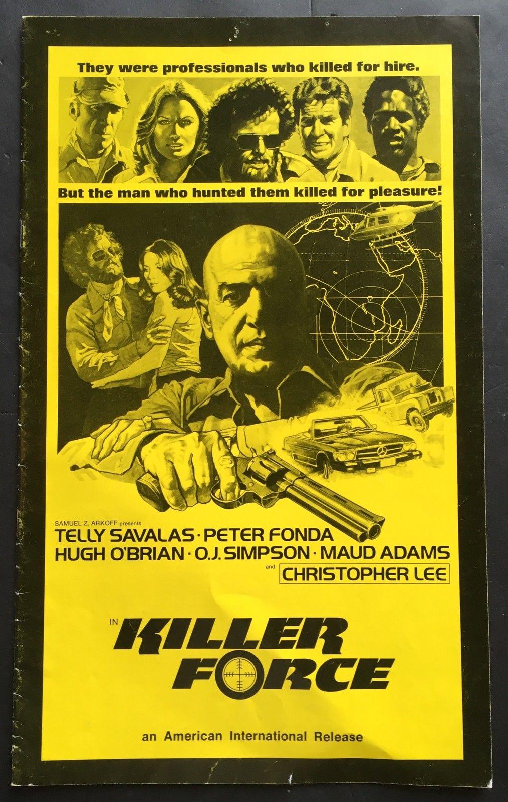 Oj  Simpson bills hof  KILLER PORCE Original 1976 movie Theater Pressbook AD nm