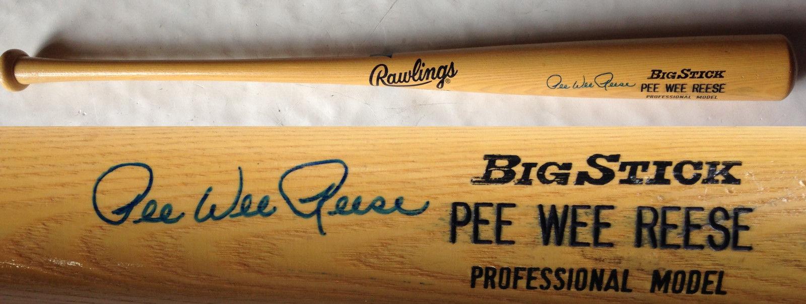Pee Wee Reese Brooklyn Dodgers Signed Rawlings big stick baseball Bat Auto PSA