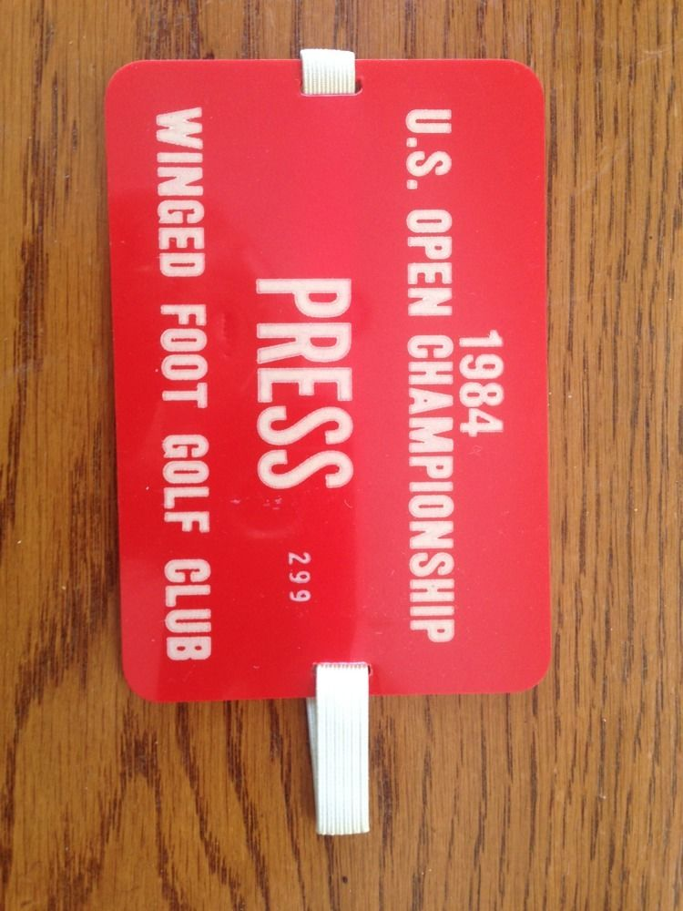 1984 U.S Open Golf Championship Press Pass Arm Band Winged Foot Fuzzy Zoeller Mt