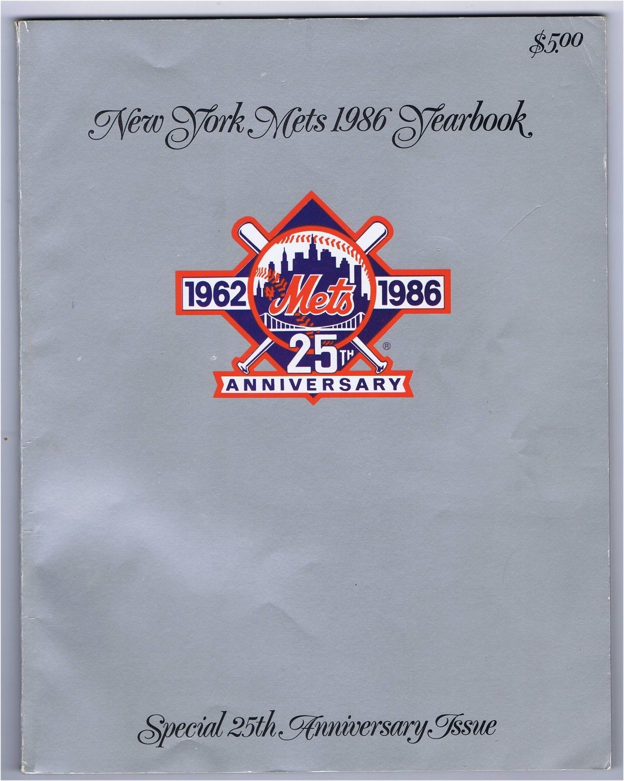 1986 Mets Yearbook Ws Champs Signed Gary Carter Wilson Gooden 5 Auto Cbm Coa