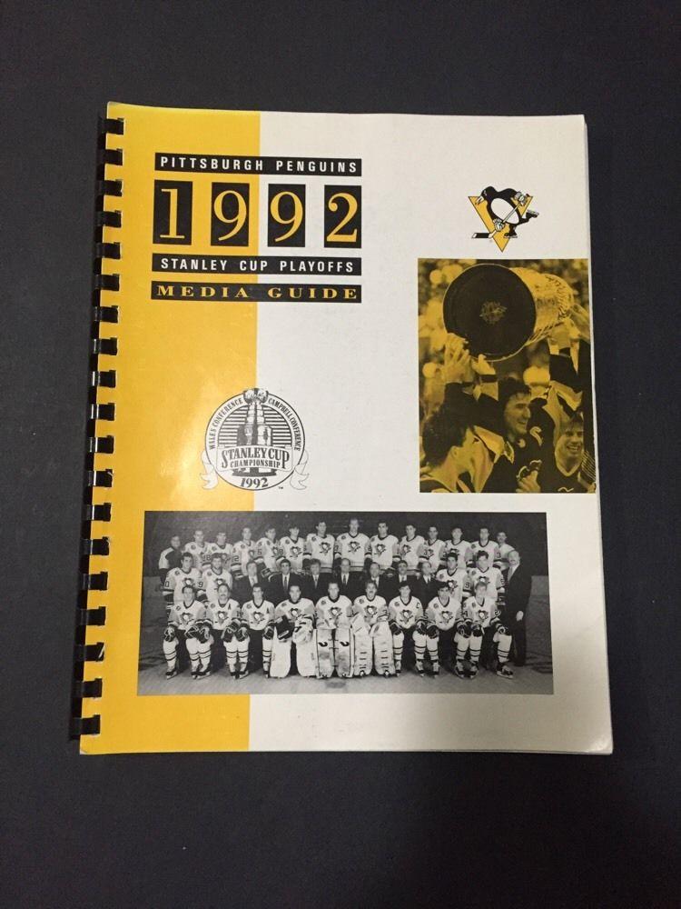 1992 Pittsburgh Penguins Stanley Cup Playoffs Media Guide Program  Lemieux Jagr